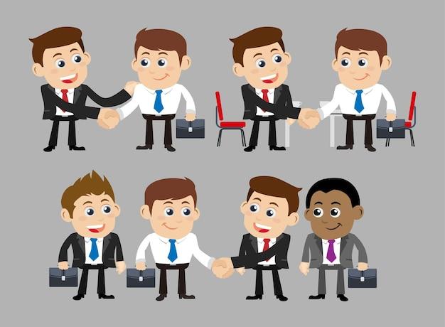 Mensen uit het bedrijfsleven in samenwerking en partnerschap concept