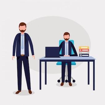 Mensen uit het bedrijfsleven kantoor
