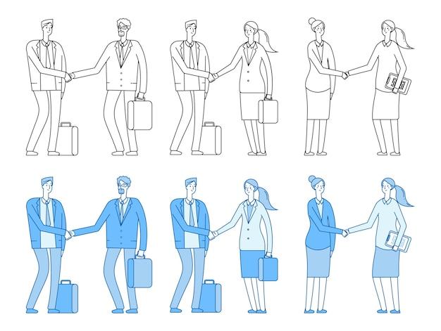 Mensen uit het bedrijfsleven karakters