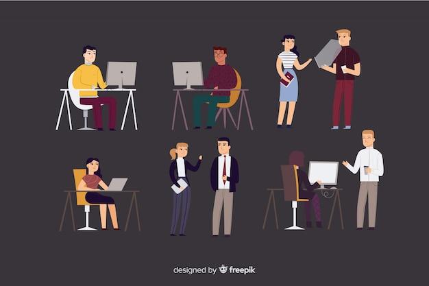 Mensen uit het bedrijfsleven met laptop