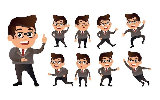 Mensen uit het bedrijfsleven met verschillende poses