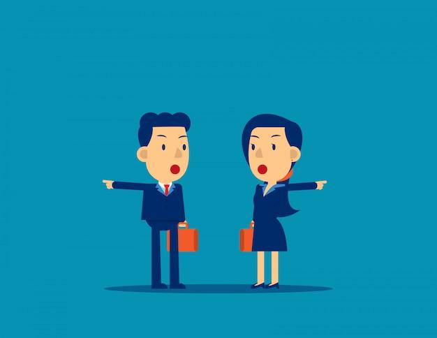 Mensen uit het bedrijfsleven met verschillende richtingen
