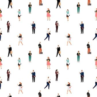 Mensen uit het bedrijfsleven naadloze patroon