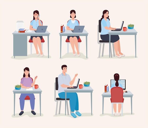 Mensen uit het bedrijfsleven op de werkvloer