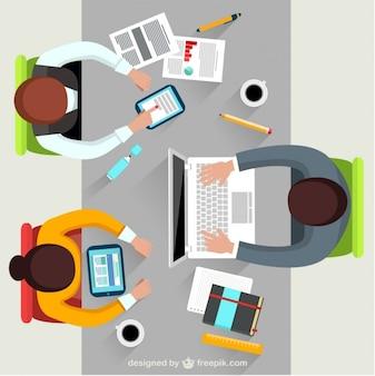 Mensen uit het bedrijfsleven op een vergadering