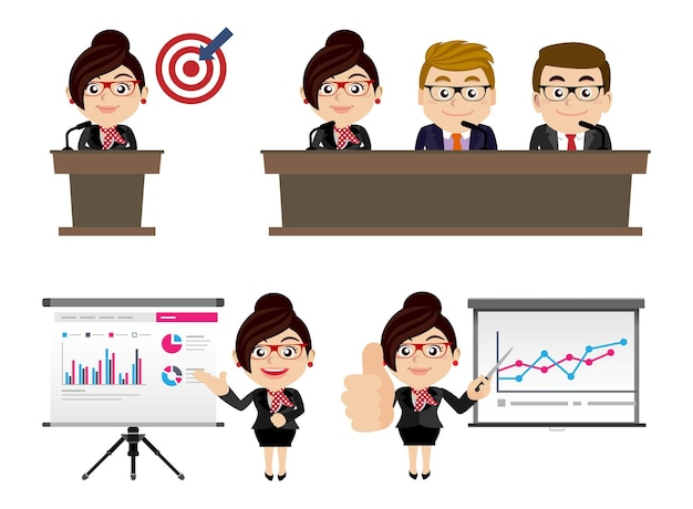 Mensen uit het bedrijfsleven presentatie vergadering trainingsconcept