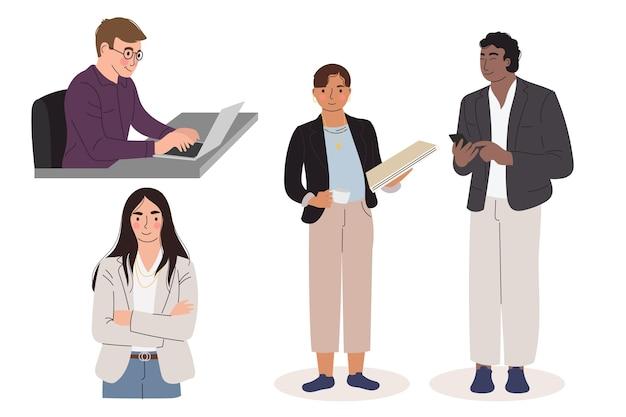 Mensen uit het bedrijfsleven samen te werken