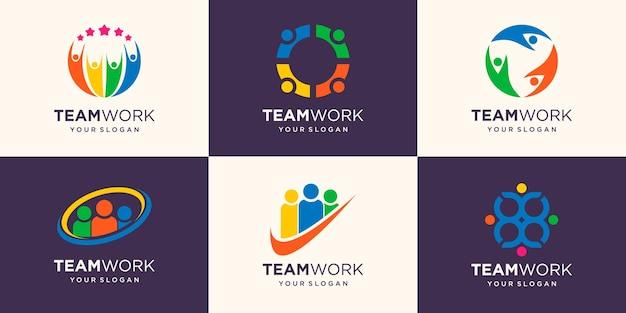 Mensen uit het bedrijfsleven samen. vector illustratie logo