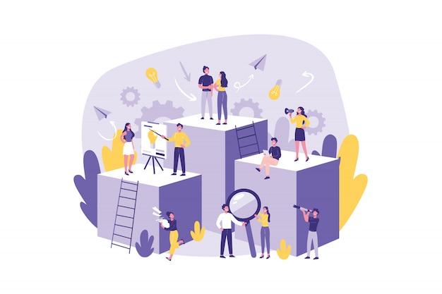 Mensen uit het bedrijfsleven, teamwerk, concept.