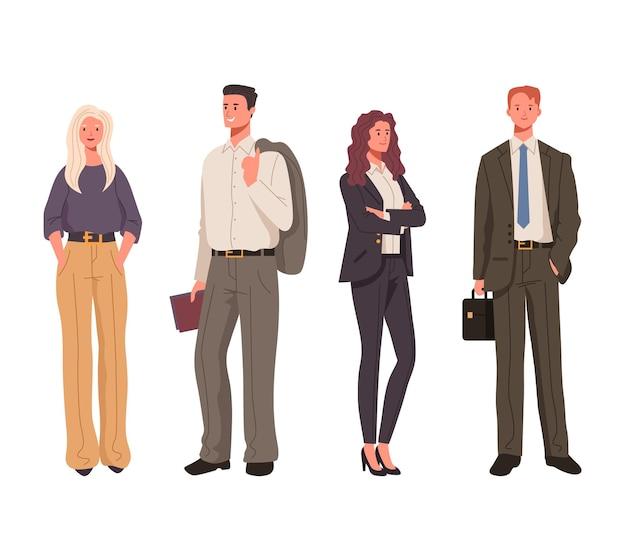 Mensen uit het bedrijfsleven tekens geïsoleerde set.