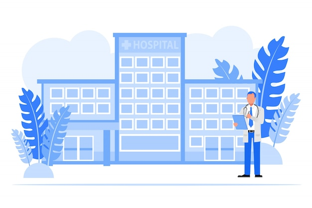Mensen uit het bedrijfsleven tekenset. bedrijfseigenaar ziekenhuis concept.