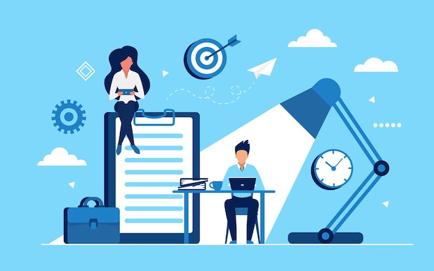 Mensen uit het bedrijfsleven verdienen geld in huis of kantoorconcept