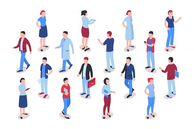 Mensen uit het bedrijfsleven werken collectie