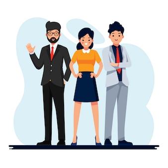 Mensen uit het bedrijfsleven werken illustratie