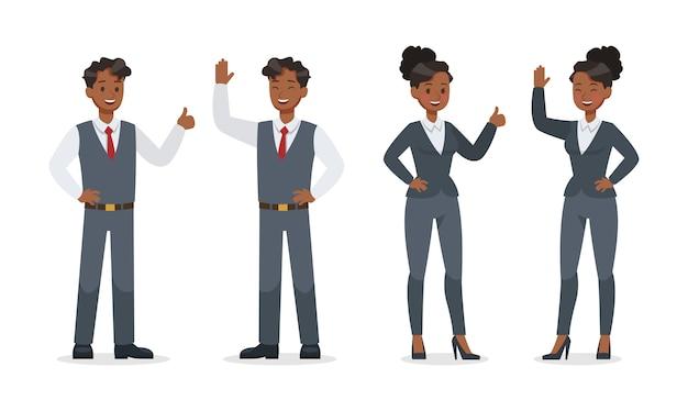 Mensen uit het bedrijfsleven werken in office set