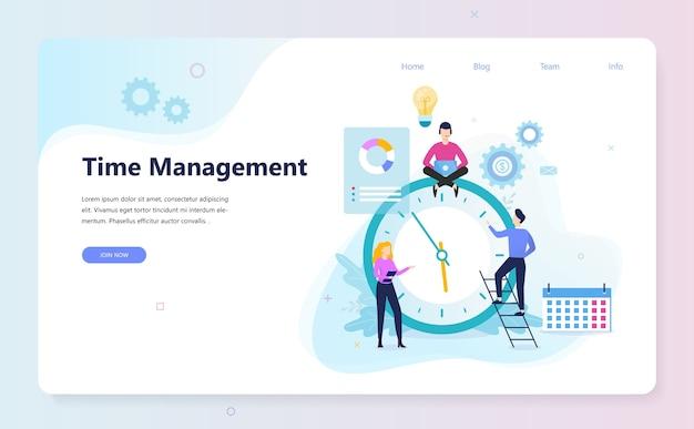 Mensen uit het bedrijfsleven werken in team en planning van tijd
