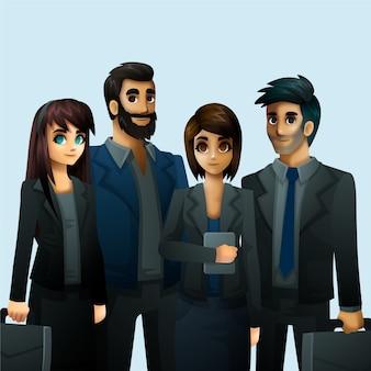 Mensen uit het bedrijfsleven werken thema