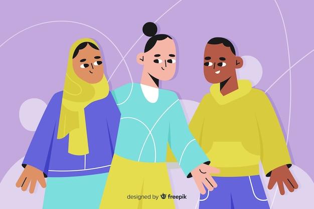 Mensen van verschillende culturen en rassen