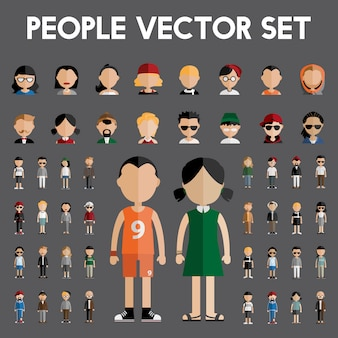 Mensen vector set