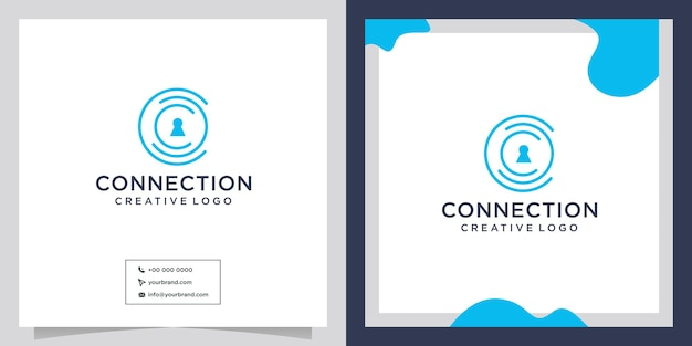 Mensen veiligheid verbinden logo-ontwerp