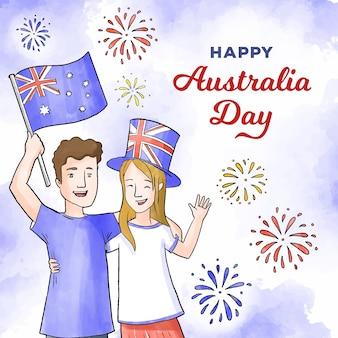 Mensen vieren australische dag