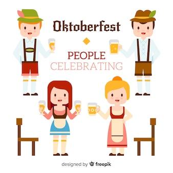 Mensen vieren het meest oktoberfest