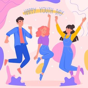 Mensen vieren jeugddag