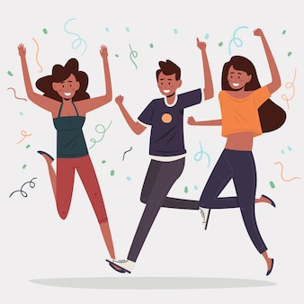 Mensen vieren samen concept