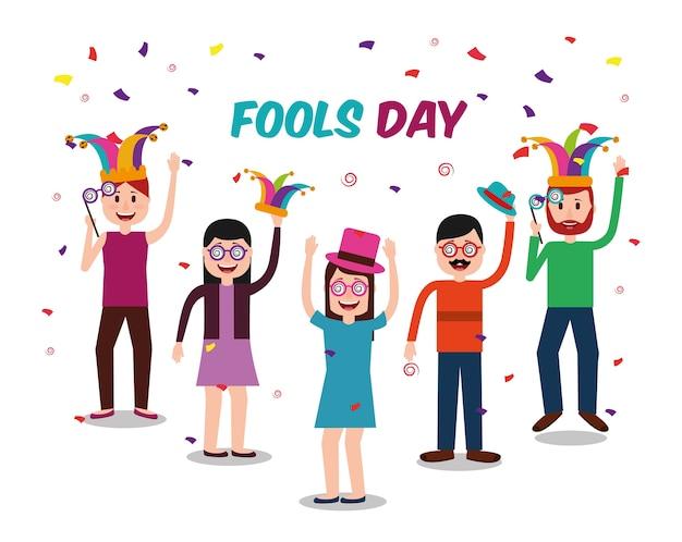 Mensen viering dwazen dag