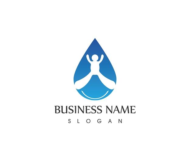 Mensen water pictogram logo vector ontwerpsjabloon