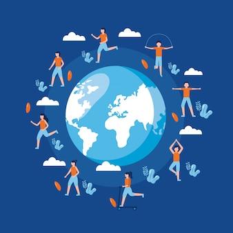 Mensen wereld gezondheid dag