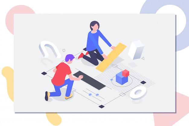 Mensen werken in een team en bereiken een doel