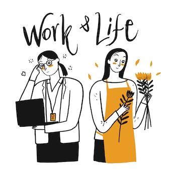 Mensen werken