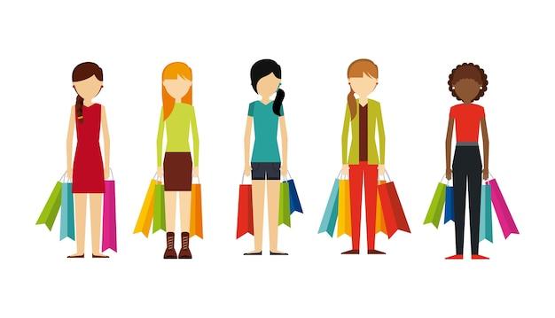 Mensen winkelen ontwerp, vector illustratie eps10 afbeelding