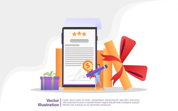 Mensen winnen sweepstakes, geld-terug-programma's, beloningen voor loyale klanten, aantrekkelijke aanbiedingen.
