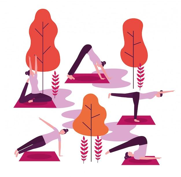 Mensen yoga-activiteit