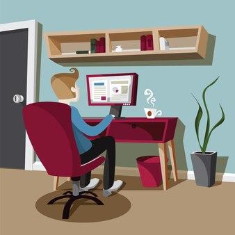 Mensen zoeken naar werk op uw computer
