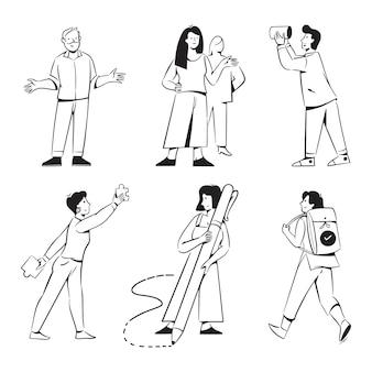 Mensenactiviteiten voor de website van een marketingbureau