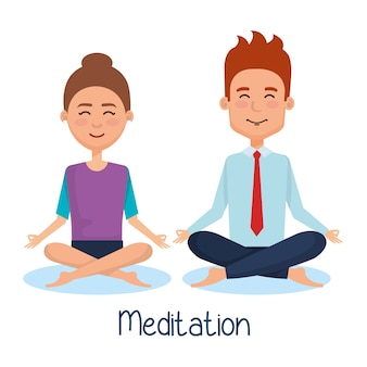 Mensenmensen levensstijl meditatie