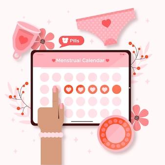 Menstruatie kalender concept