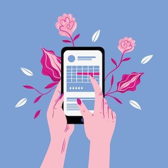 Menstruele kalender concept illustratie