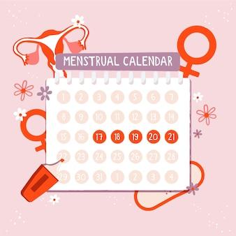 Menstruele kalender concept