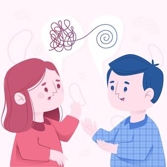 Mentaal bewustzijn concept