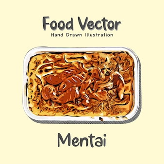 Mentai japans eten illustratie