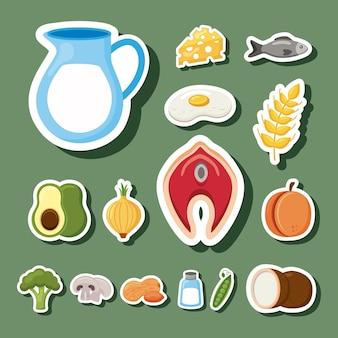 Menu met vijftien mineralen dieet ingrediënten