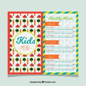 Menu voor kinderen met gezonde maaltijden