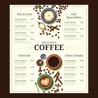 Menusjabloon voor coffeeshops