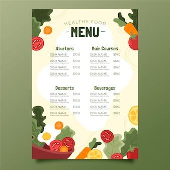 Menusjabloon voor gezond eten
