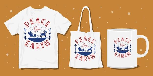 Merchandisingontwerp voor kerst t-shirts