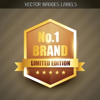 Merk goud label